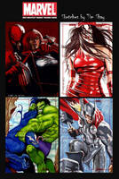 Marvel Greatest Heroes Sketches Pg 2 by Dr-Horrible