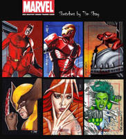 Marvel Greatest Heroes Sketches Pg 4 by Dr-Horrible