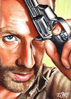 Rick Grimes sketch - The Walking Dead by Dr-Horrible