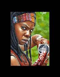 Michonne sketch -The Walking Dead by Dr-Horrible