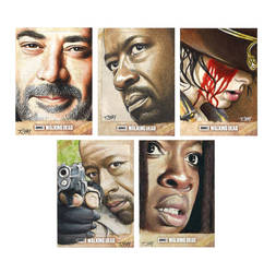 The Walking Dead Season 6 Cards by Dr-Horrible