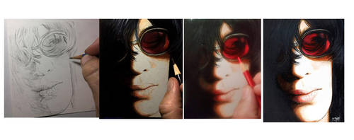 Joey Ramone - Drawing Evolution by Dr-Horrible