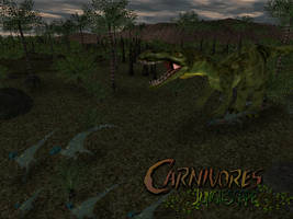 Carnivores :Junglescape  Ostafrikasaurus attack by Keegz97