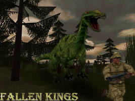 Carnivores Fallen Kings:  A very cranky Baryonyx by Keegz97
