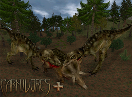 Carnivores Plus :Triceratops Takedown by Keegz97