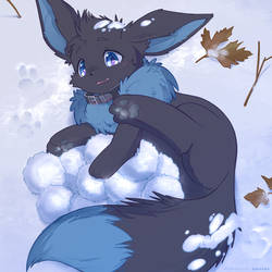 Eevee in the Snow by Ancesra