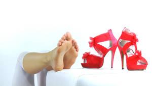 Red Heat by JelisaRose-Feet