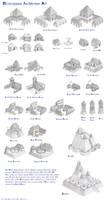 Mississippian Architecture Set - Age of Empires 2 by Kondrikthus
