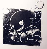 Dark Chao inktober by Snowsupply