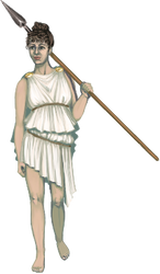 The (female) spear bearer by Artzygrrl