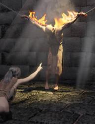 Burning (TW: Man On Fire) by SickleYield