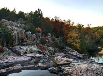Rocky Falls in autumn by TutorVeritatis