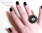 Gothic Evil Eye Ring by Glamour365