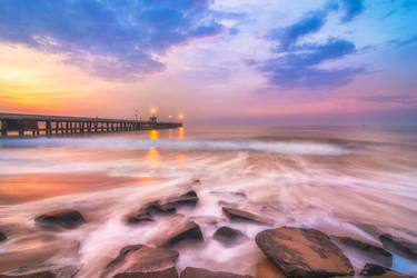 Pondicherry pier  by FirstLight77