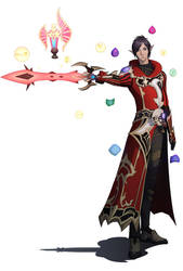 Red Mage Berteaux Braumegain by IvalicianAzulmagia