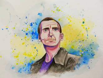 Nine ~ Doctor Who Watercolor Series by MissMachineArt