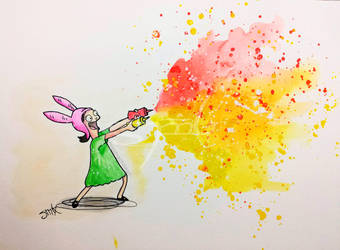 Louise Belcher -Ketchup and Mustard - 1/3 by MissMachineArt
