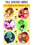 monster pop! volume 2 stickers by mayakern