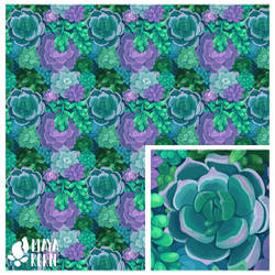 succulent pattern by mayakern