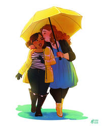 rainy date by mayakern