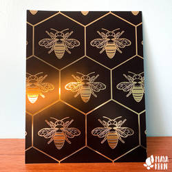 gold foil bee by mayakern