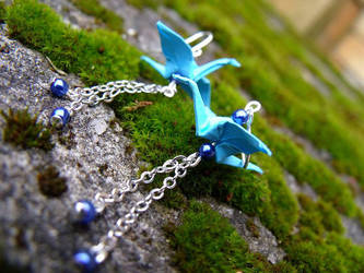 Crane earrings II by letax