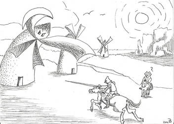 Postcard 5 - Don Quijote by keksimtee