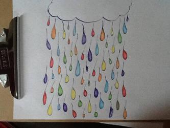 Rainbow Rain by diamondpaintbrush