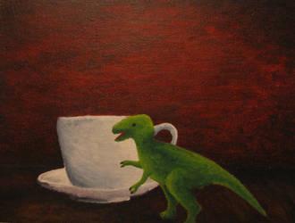 Tea Rex by smelsmin