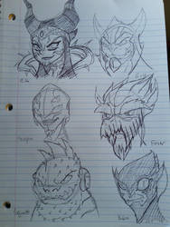 Power Rangers Villain Sketches by Zigwolf