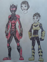 Marvel Legacy - Red Queen and Yellowjacket by Zigwolf