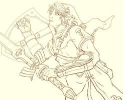 Link lineart by cyen