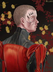 A Portrait in Black and Red by cyen