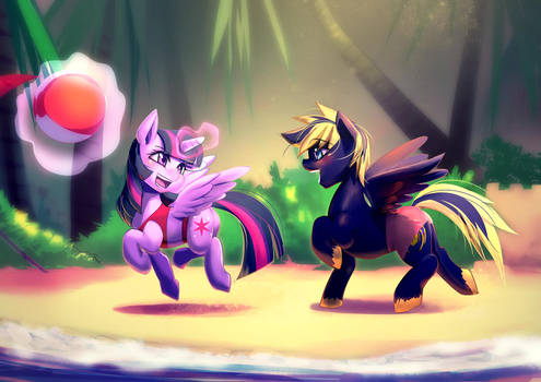 Commission: Summer Vacation by bakki