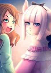 Riko and Kanna by bakki
