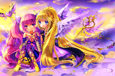 Collab: Winged Girls by naomiyui