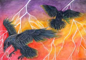 [Personal] Odin's Ravens by neon-possum