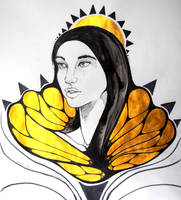 Monarch - Inktober2017 - Day 3 by seanpt
