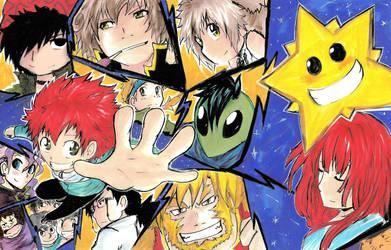 Buscando una estrella fugaz, muchos personajes xD by Kobatta