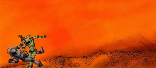 Reaching Mars, 1 by mkoskim