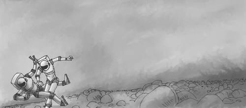 Reaching Mars, 2 by mkoskim