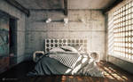 Industrial Bedroom by vudumotion