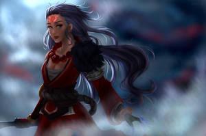 Blood Moon Diana by SelenaLynne
