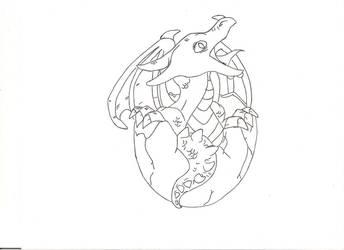 Baby dragon by GreatWhitewolfspirit