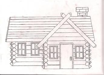 Log cabin by GreatWhitewolfspirit