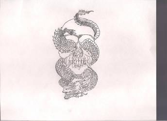 dragon tattoo design by GreatWhitewolfspirit