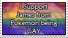 I Support Gay James Stamp by Krazys-Stamps