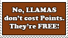 Llamas are Free Stamp by Krazys-Stamps