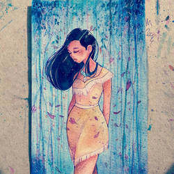 Pocahontas painting commission by StarsInMyCoffeee