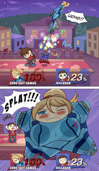 Super Splat Bros.: Zero Smooshed Samus by OneDumbDuck